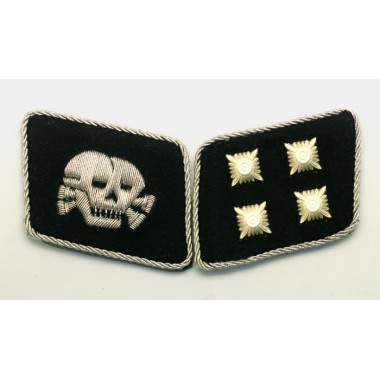 SS Skull Major(SS-Sturmbannfuhrer) Collar Tabs