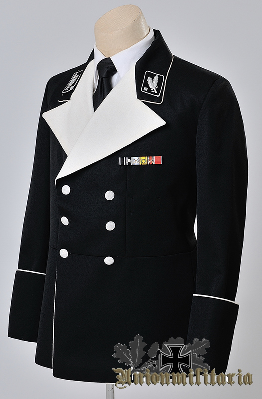 High Quality Ww2 German Ss Generals Black Mess Dress Tunic