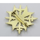 Spanish Cross with Swords -Gold