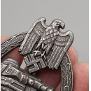 Panzer Assault Badge in Antique Silver(MM:AS )